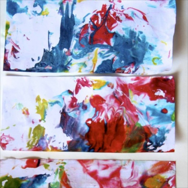 Marbled Paper with Shaving Cream Printing via Lessons Learnt Journal