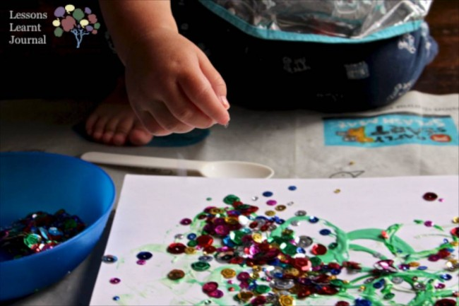 Christmas Activities for Kids- Playful Toddler Art via Lessons Learnt Journal 05