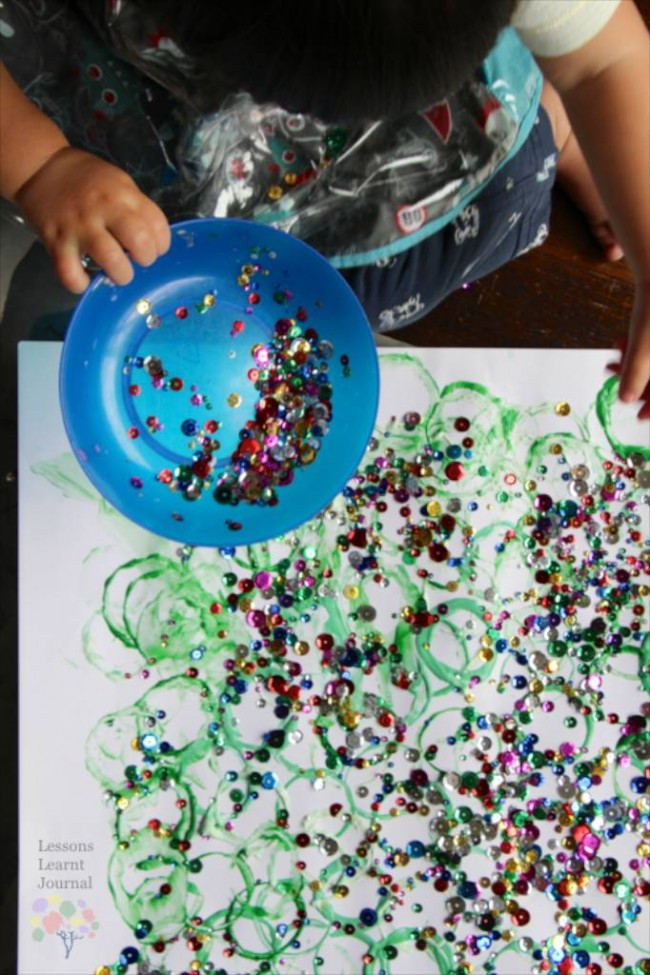 Christmas Activities for Kids- Playful Toddler Art via Lessons Learnt Journal 06