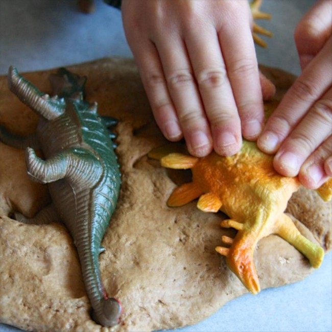 DIY Dinosaur Fossils via Lessons Learnt Journal