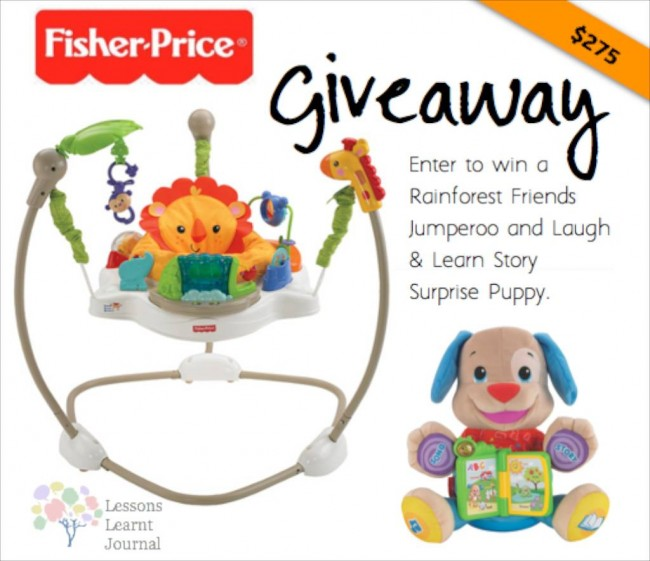 Fisher Price Jumperoo Surprise Puppy Giveaway via Lessons Learnt Journal
