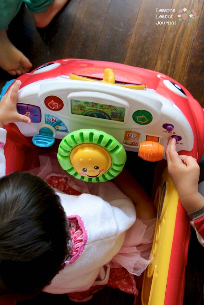 Fisher-Price Laugh and Learn Crawl Around Car review and giveaway via Lessons Learnt Journal 05