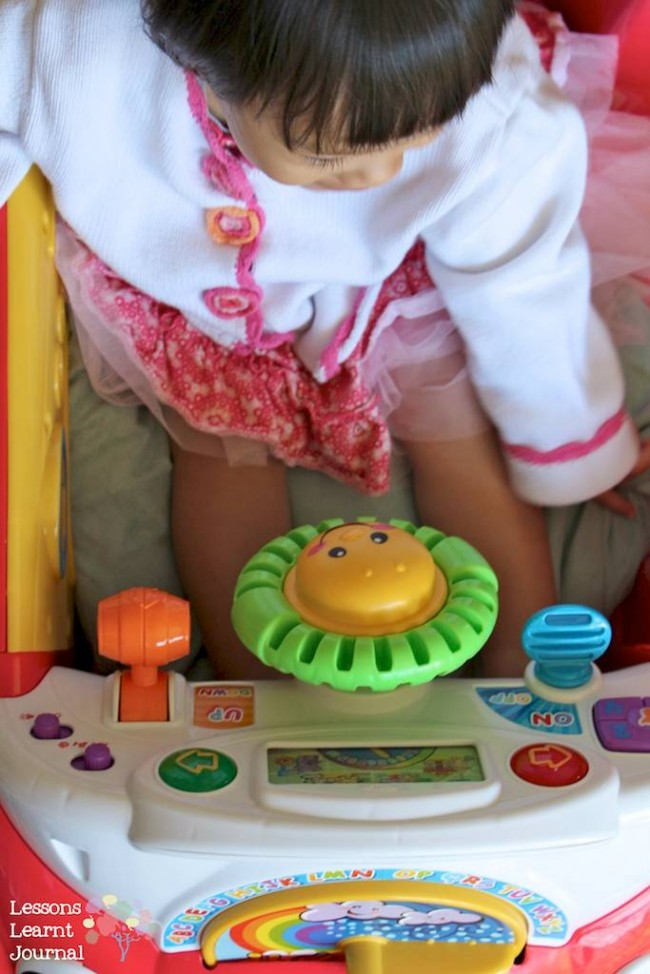 Fisher-Price Laugh and Learn Crawl Around Car review and giveaway via Lessons Learnt Journal 06