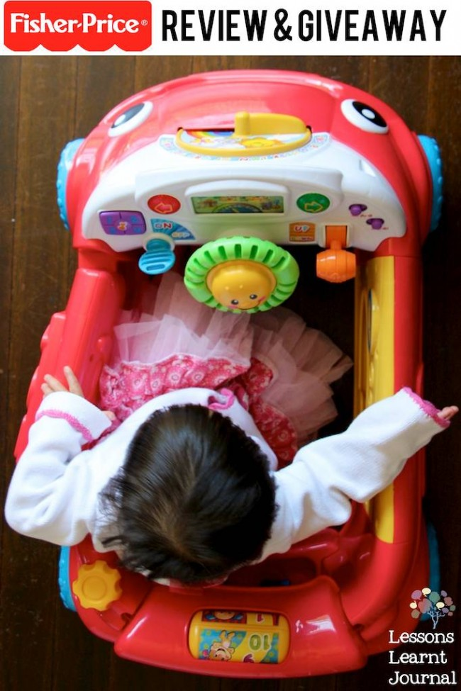 Fisher-Price Laugh and Learn Crawl Around Car review and giveaway via Lessons Learnt Journal