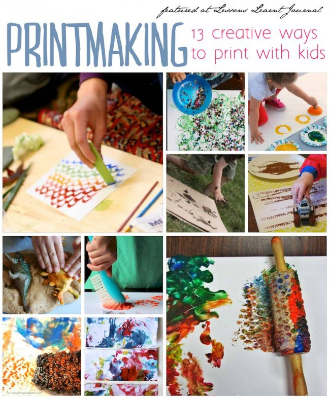 Printmaking for Kids via Lessons Learnt Journal