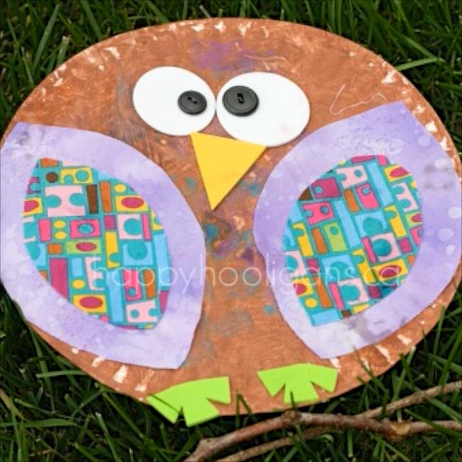 Paper Plate Owls via Happy Hooligans
