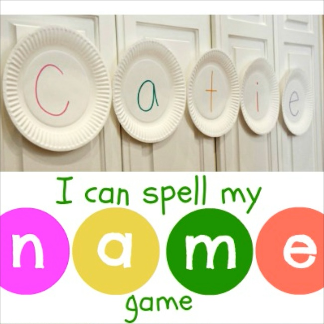 Paper Plate Name Game via Toddler Approved at NurtureStore