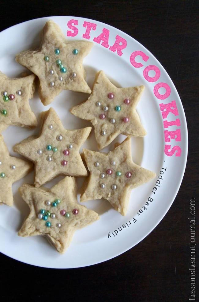 Kids Cookies Stars for Toddler Bakers LessonsLearntJournal