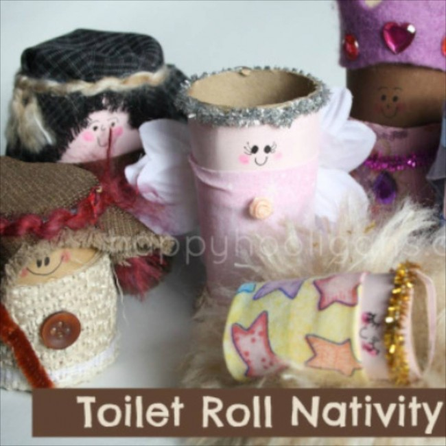 Toilet Roll Nativity Set via Happy Hooligans