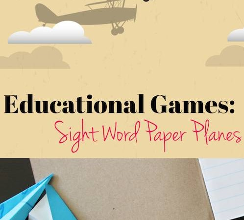 Educational Games Sight Word Paper Planes via Lessons Learnt Journal