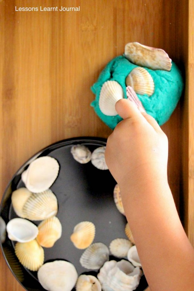 Make Playdough Beach Themed via Lessons Learnt Journal 02