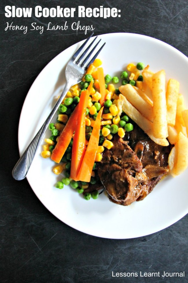 Easy Slow Cooker Recipes Honey Soy Lamb Chops via Lessons Learnt Journal