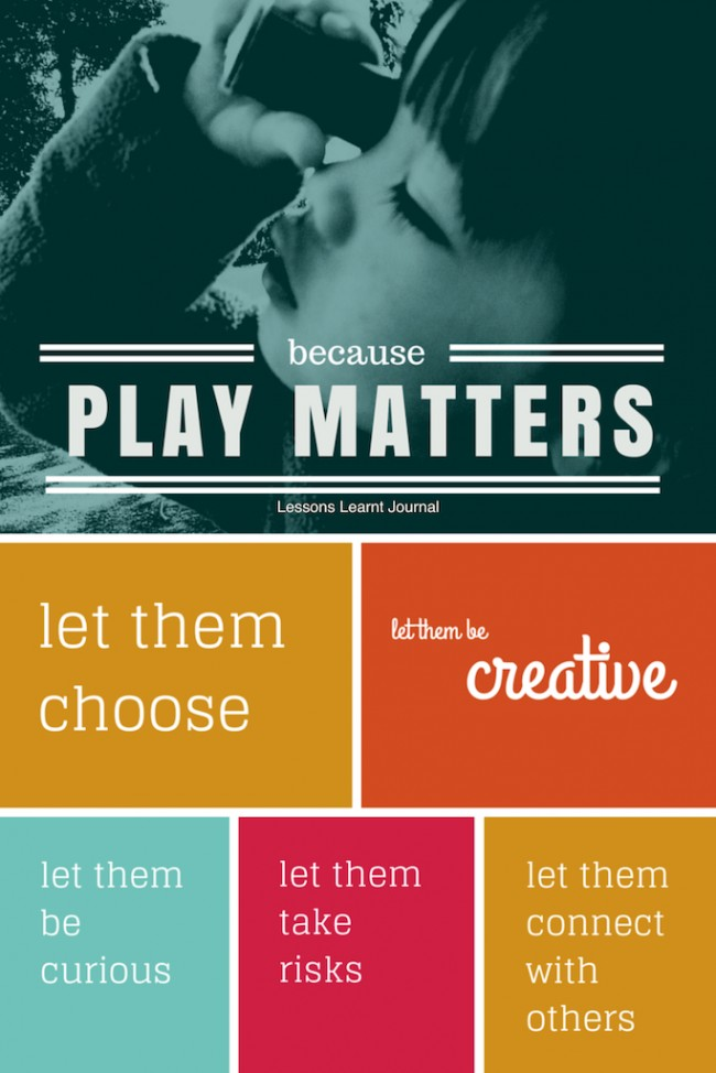 Play Matters via Lessons Learnt Journal