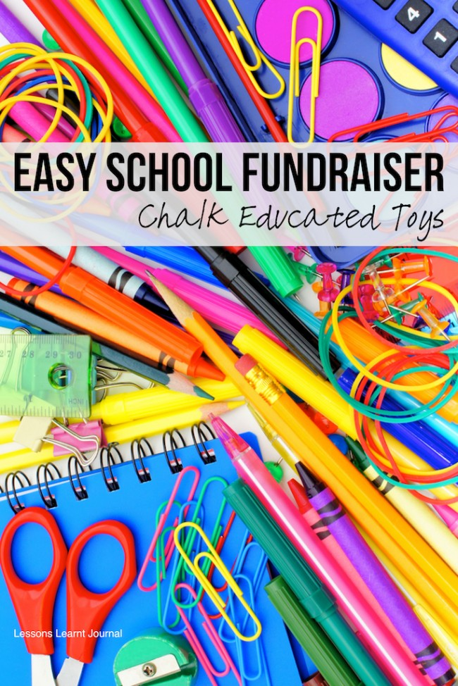 Easy School Fundraiser Chalk Educated Toys via Lessons Learnt Journal